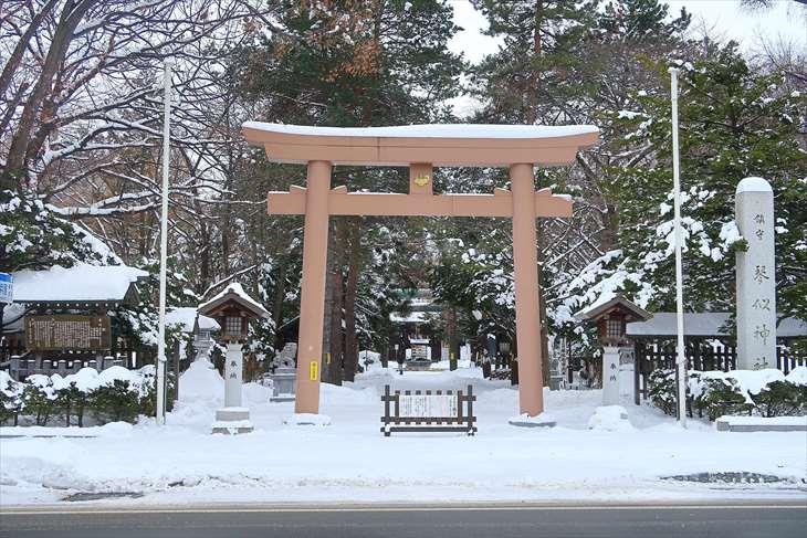 琴似神社の赤い鳥居