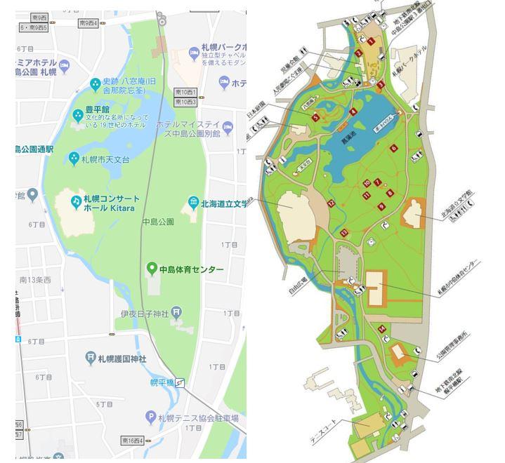中島公園の地図