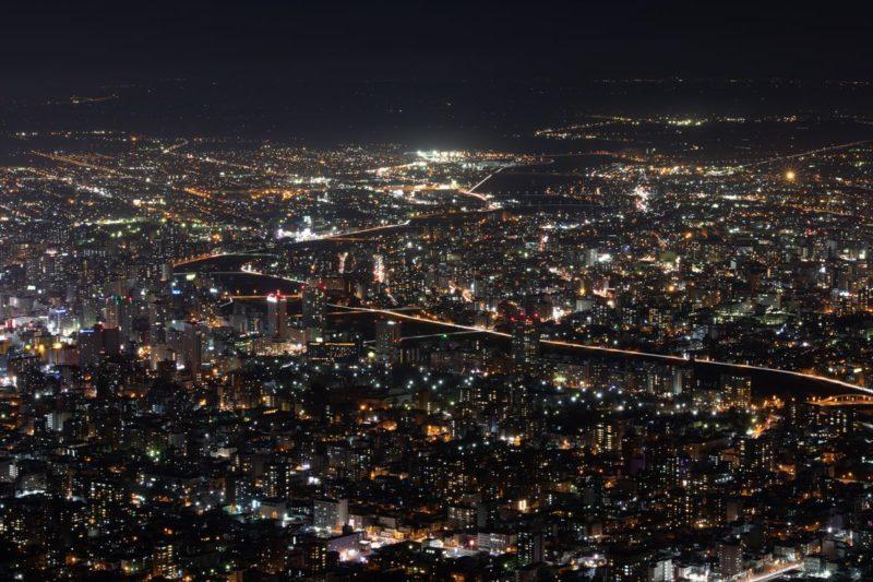 藻岩山山頂からの夜景