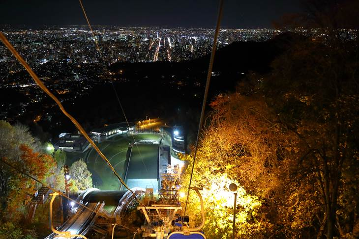 大倉山展望台からの夜景