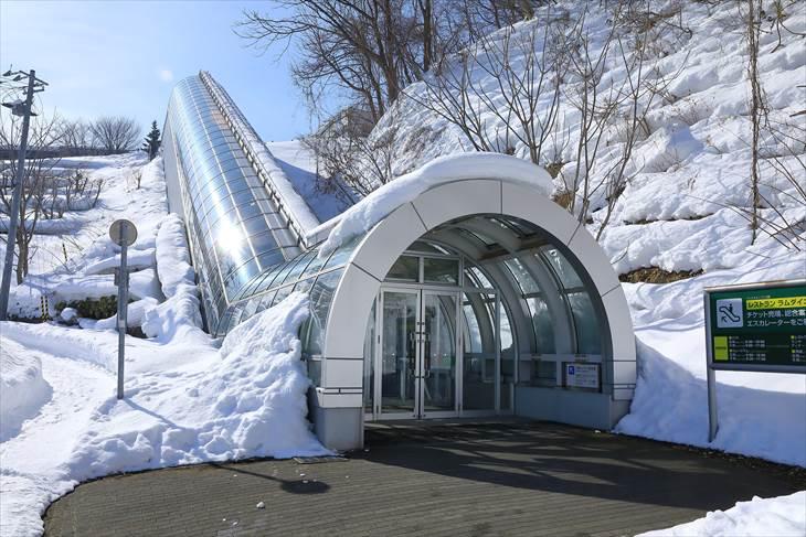 大倉山ジャンプ競技場のエスカレーター