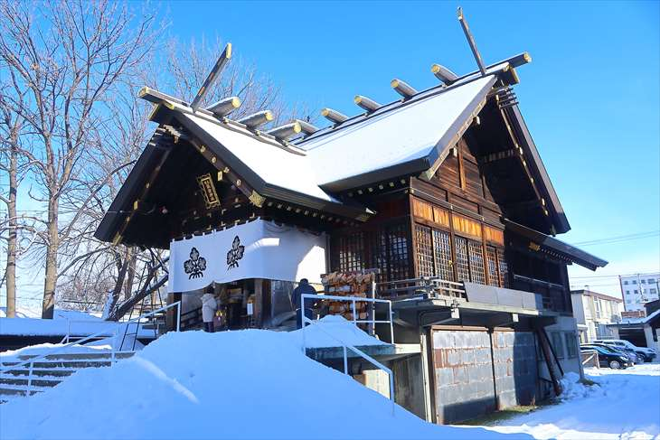 札幌諏訪神社の冬