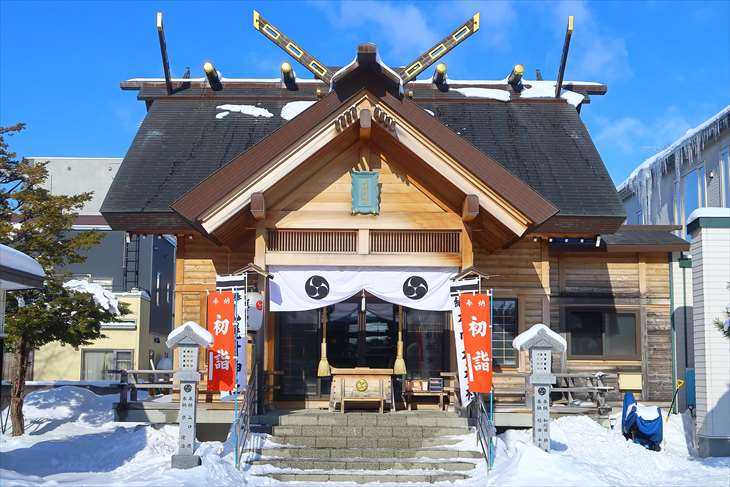 札幌村神社 本殿 冬景色