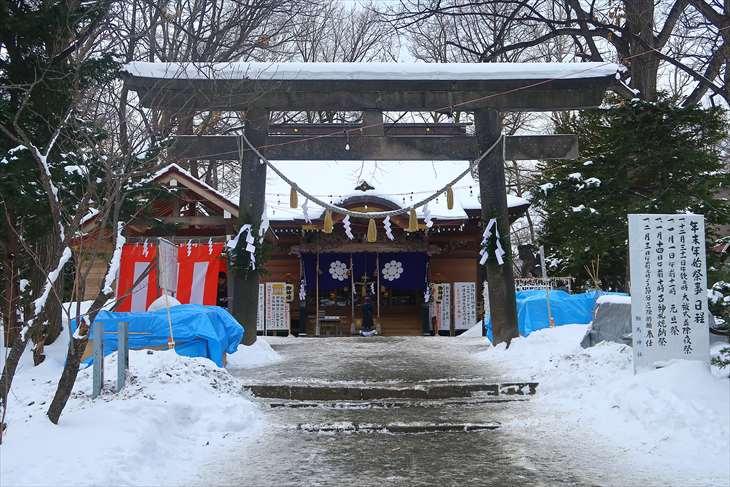 相馬神社 冬の景色
