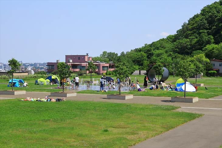 札幌市水道記念館 噴水広場