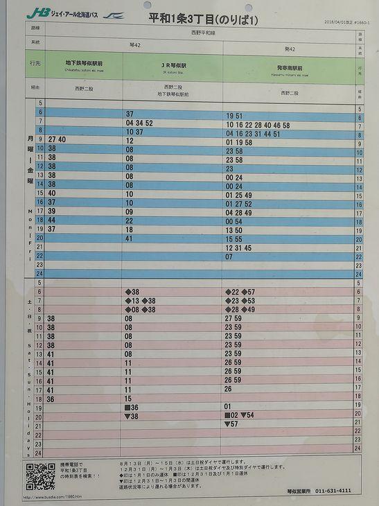 西野神社前バス停の時刻表