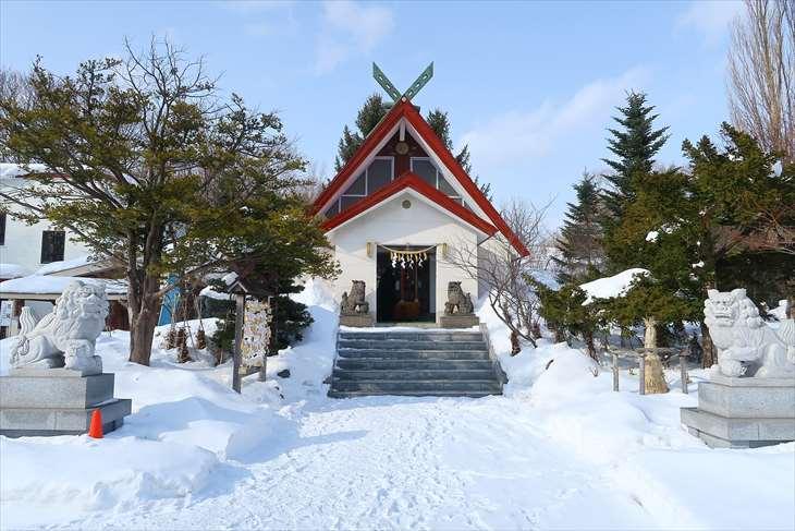 上手稲神社 冬