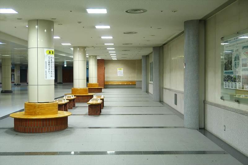 北1条宮の沢通の地下道「公共地下歩道」