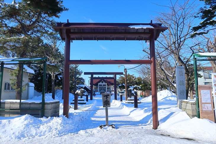 苗穂神社の冬