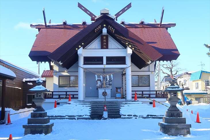 苗穂神社 冬