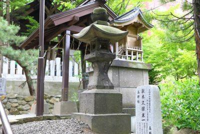 手稲神社の石灯籠