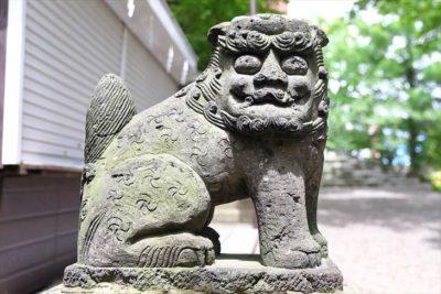 手稲神社 裏参道の狛犬様