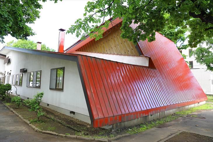 手稲記念館の赤い屋根