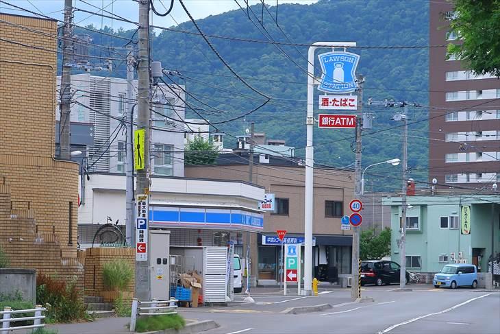 札幌市営地下鉄南北線 幌平橋駅近くのローソン