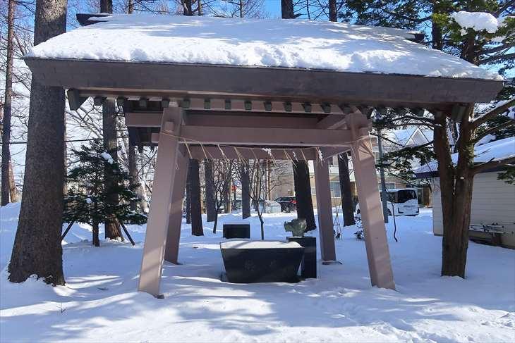 大谷地神社の手水舎