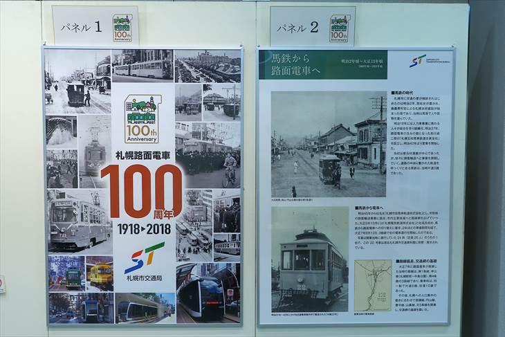 札幌路面電車100周年記念パネル展