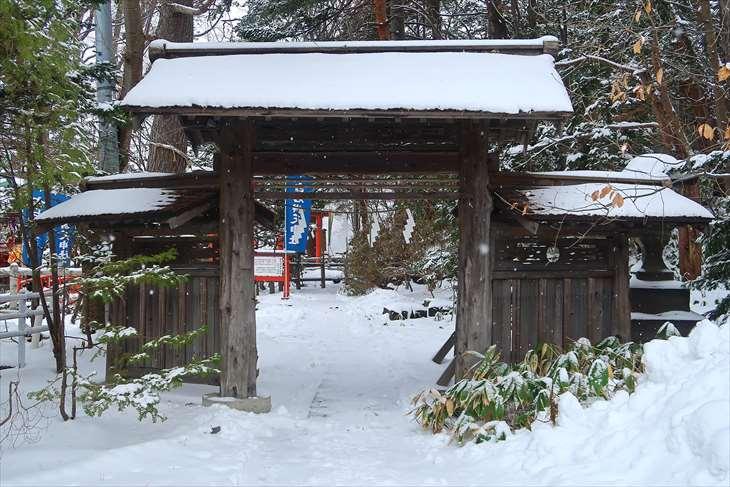 白石神社 冬