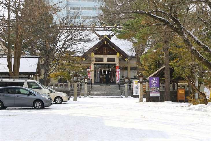 豊平神社の冬