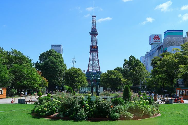 2018年8月の札幌大通公園