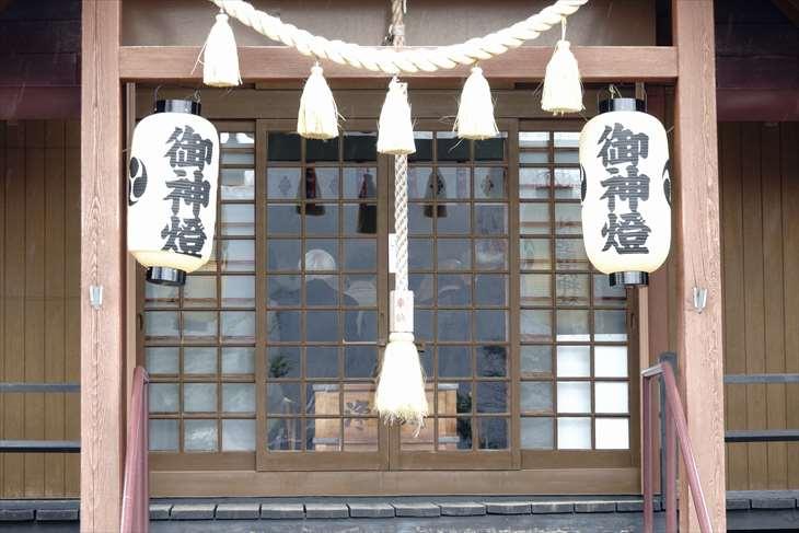 札幌南沢神社 提灯