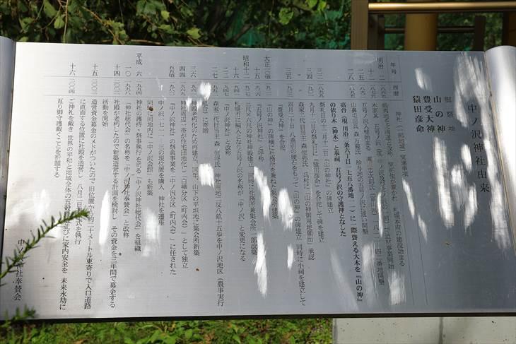 中ノ沢神社 由緒