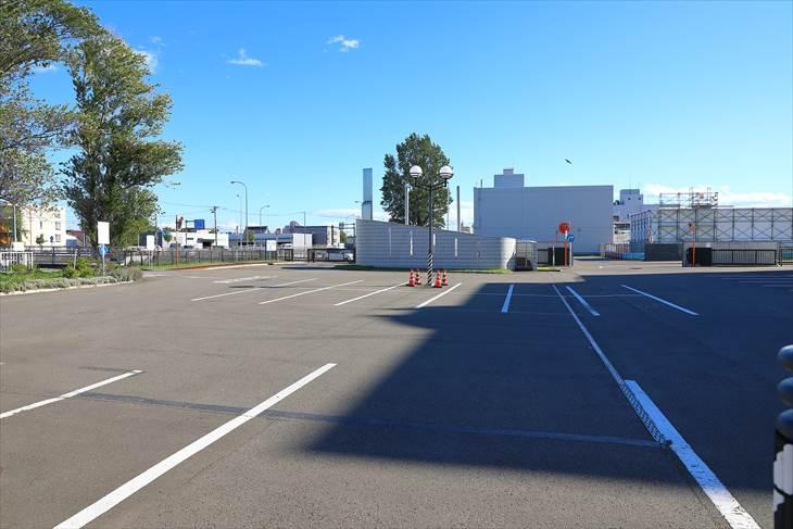 札幌市下水道科学館の駐車場