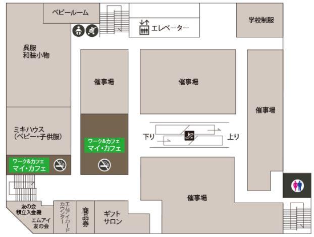 札幌三越10階フロアマップ
