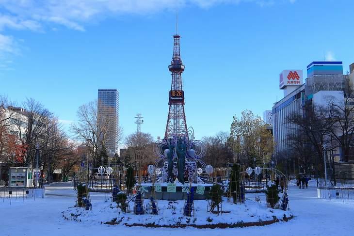 2018年11月の札幌・大通公園とさっぽろテレビ塔
