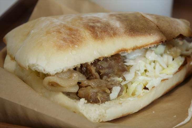 めざましサンド店 豚の生姜焼きサンド