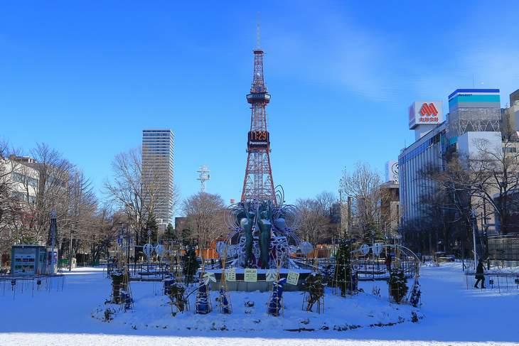 2018年12月 札幌大通公園の様子
