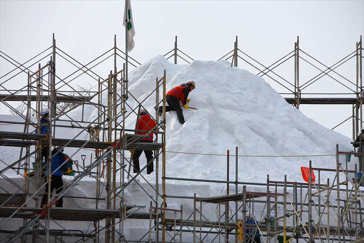 さっぽろ雪まつり大雪像見学会