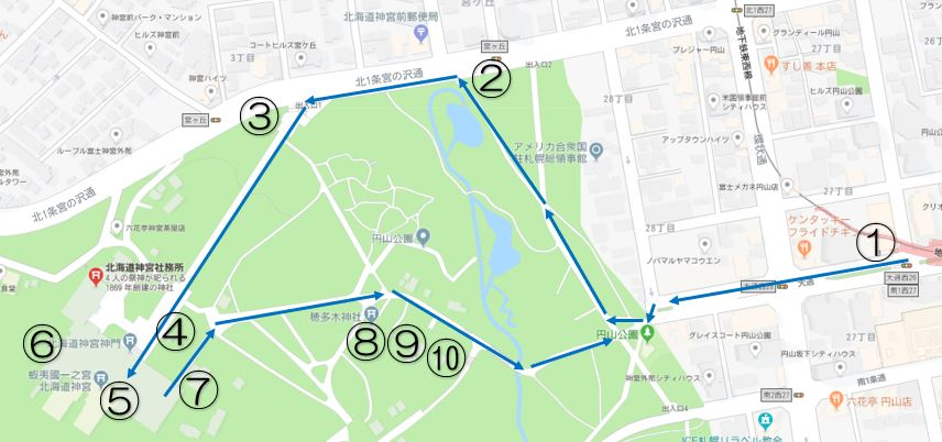 北海道神宮 初詣参拝ルート