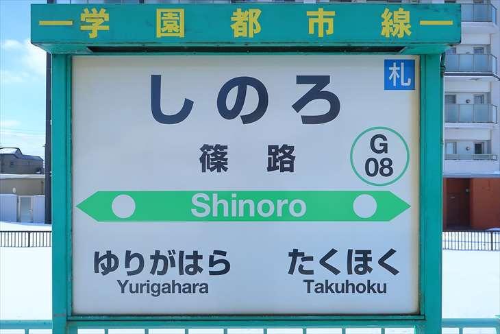 篠路駅 看板
