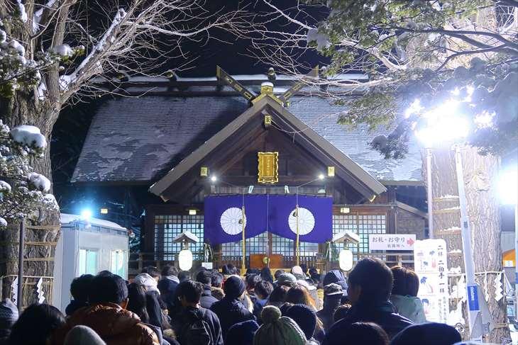 北海道神宮頓宮 初詣の様子