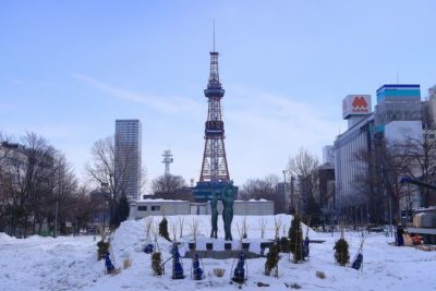 札幌大通公園2月の様子