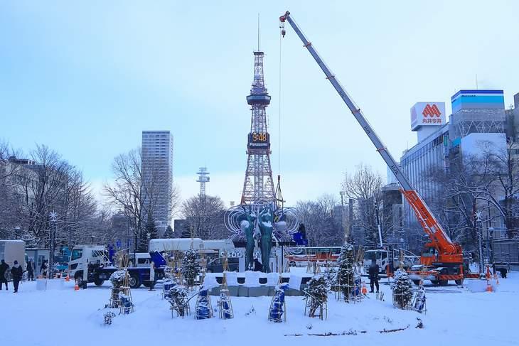 2019年1月札幌・大通公園の天気と様子