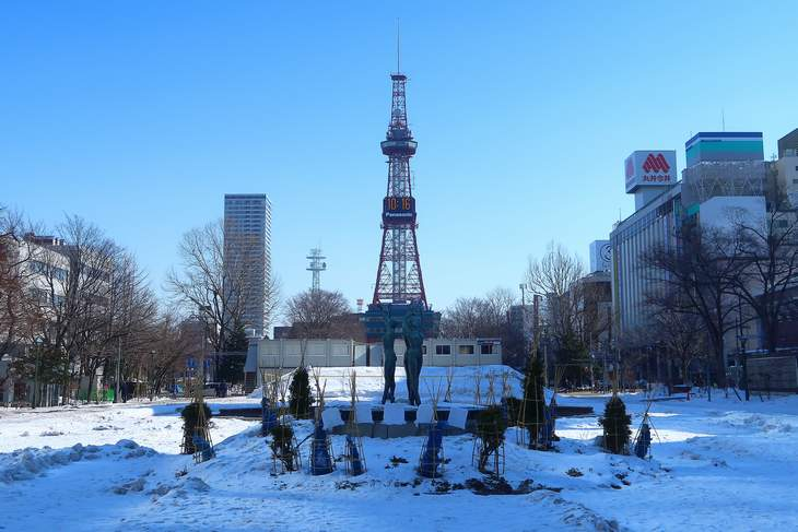 2019年2月の札幌 大通公園