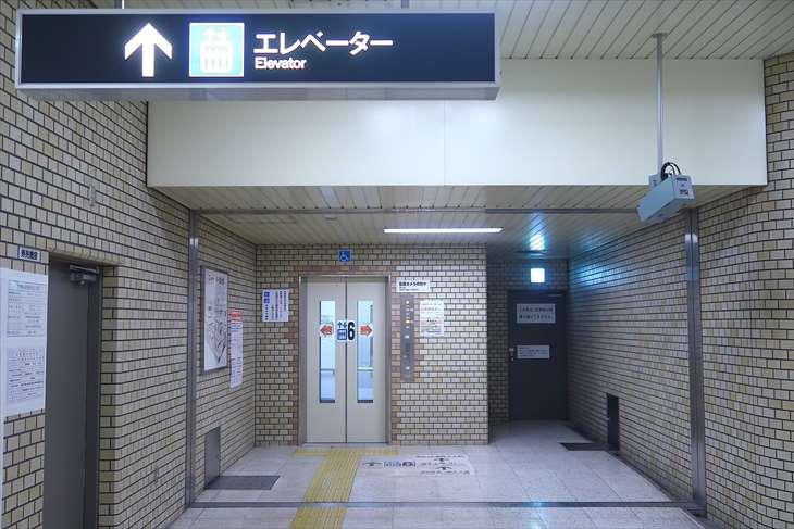 大通駅 大通公園3丁目エレベーター出口