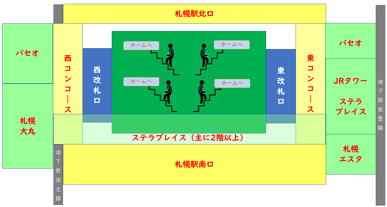 札幌駅MAP