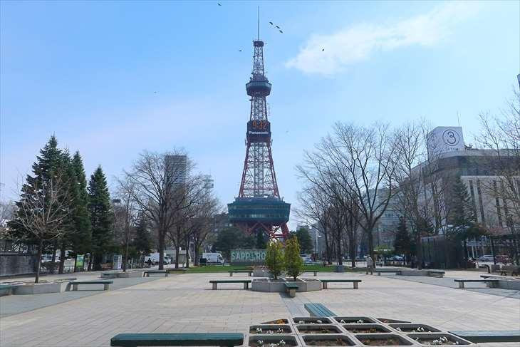 さっぽろテレビ塔の撮影アングル