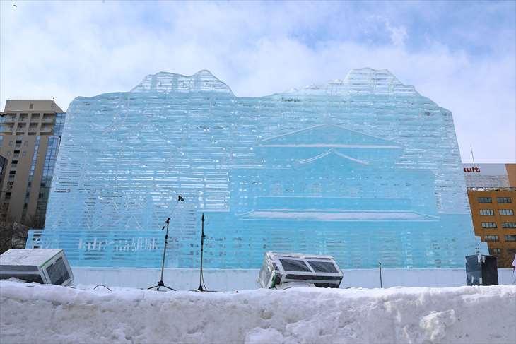 さっぽろ雪まつり・大通公園5丁目・【大氷像】台湾-玉山と高雄駅