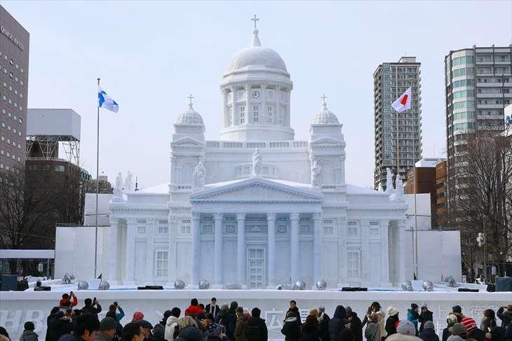 さっぽろ雪まつり・大通公園7丁目・【大雪像】ヘルシンキ大聖堂