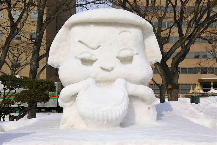 さっぽろ雪まつり・大通公園12丁目・市民雪像
