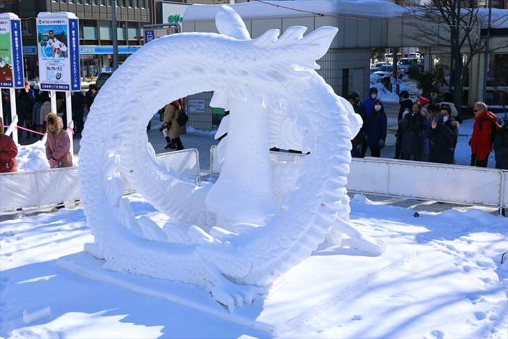 さっぽろ雪まつり・大通公園11丁目・国際雪像コンクール