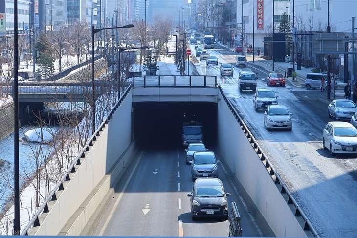 創成川通り 北三条歩道橋