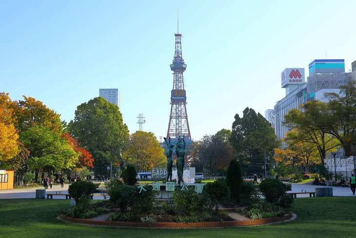 2019年10月の札幌・大通公園の天気と周辺の様子