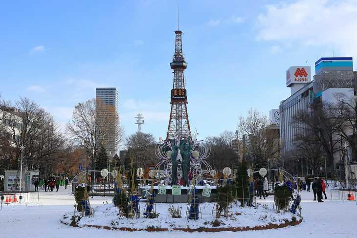 2019年12月の札幌・大通公園の天気と周辺の様子・出来事