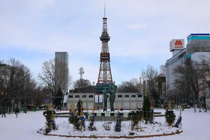 2020年1月の札幌・大通公園の天気と周辺の様子・出来事