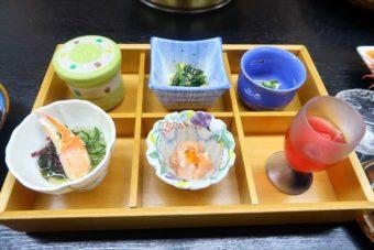 ホテル季風クラブ知床の夕食の前菜