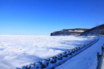 ホテル季風クラブ知床の前の海